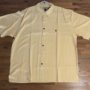 Tommy Bahama 100% silk XXL button up casual shirt